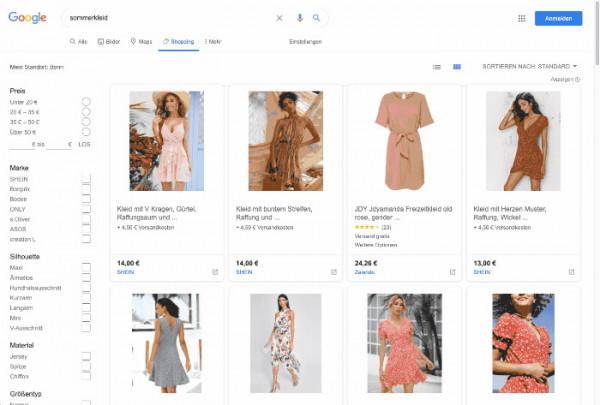 Google Shopping Kampagne