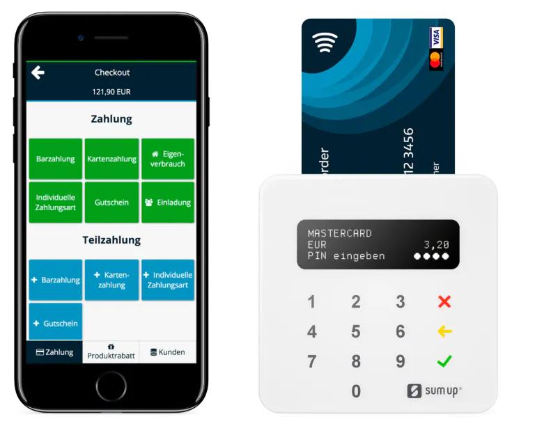 Kartenzahlung Kassensystem für den Einzelhandel